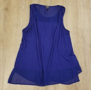 Vince camuto sleeveless blue top